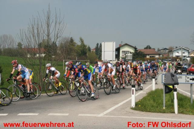 Verkehrswegsicherung beim Radrennen