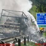 LKW-Brand auf der A9 Mautstelle Ardning