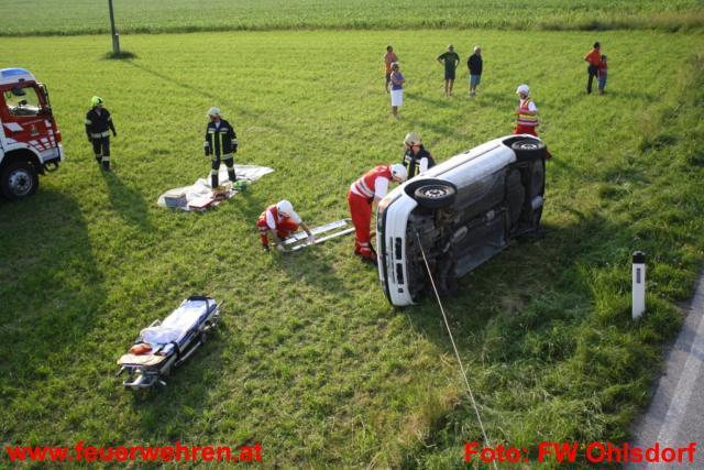 Einsatzübung Verkehrsunfall - vier Feuerwehren übten den Ernstfall