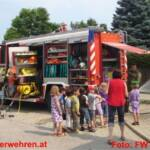 Kindergarten auf Schnuppertag bei der Feuerwehr