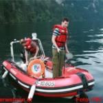 Bootseinsatz beim 22. Bergmarathon rund um den Traunsee mit Personenrettung