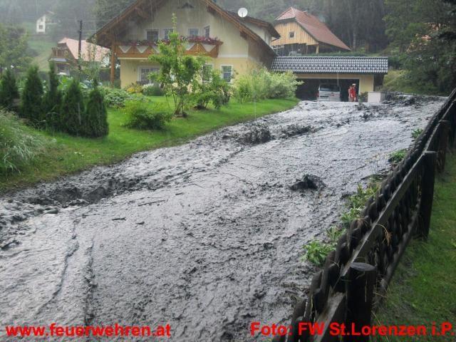 Unwettereinsatz in St.Lorenzen und Dietmannsdorf