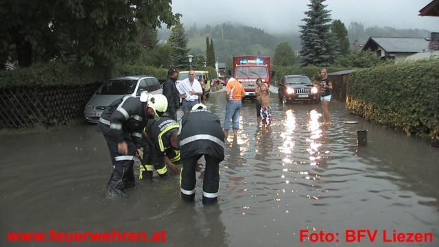 Überflutungen und Vermurungen im Bezirk