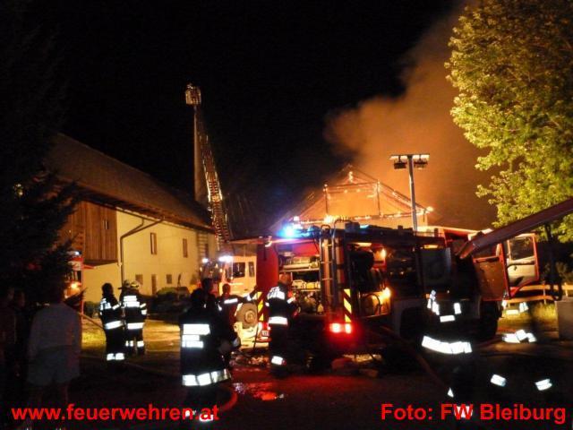 Brandeinsatz für die Stadtfeuerwehr Bleiburg