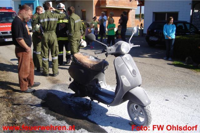 Neues Moped bei Brand in Ohlsdorf völlig zerstört