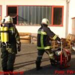 Brandmeldealarm durch Brand eines Kompressors