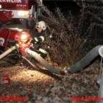 Brandübung - Radladerbrand in Altreifendeponie