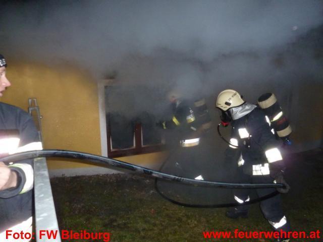 Wohnungsbrand im Stadtzentrum von Bleiburg