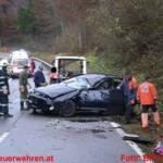 """Schwerer Verkehrsunfall auf der B25 beim """"Toten Mann"""" in Palfau"""