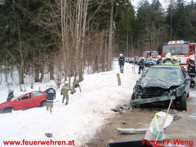 Zwei Schwerverletzte bei Verkehrsunfall auf der Buchau
