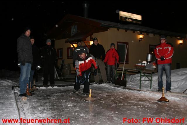 Internes Eisstockschießen der Feuerwehr in Ruhsam