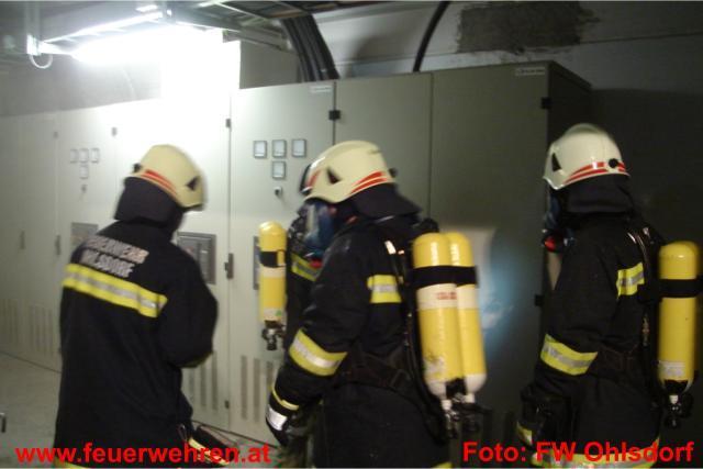 Elektroverteilerbrand mit CO² gelöscht