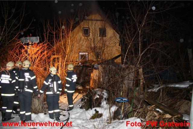 Dachstuhlbrand am Anton Bauer Weg