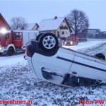 Winterliche Fahrverhältnisse sorgten für zwei Unfälle in Ohlsdorf