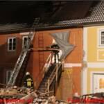 Brand bei einem Gasthof in Ohlsdorf