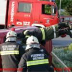 Einsatzübung Verkehrsunfall im Kreisverkehr Kleinreith