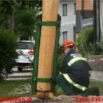 Maibaum in Ohlsdorf bei Sturm beschädigt und umgelegt