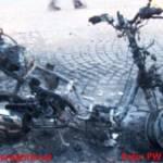 Moped bei Brand im Ortszentrum komplett abgebrannt