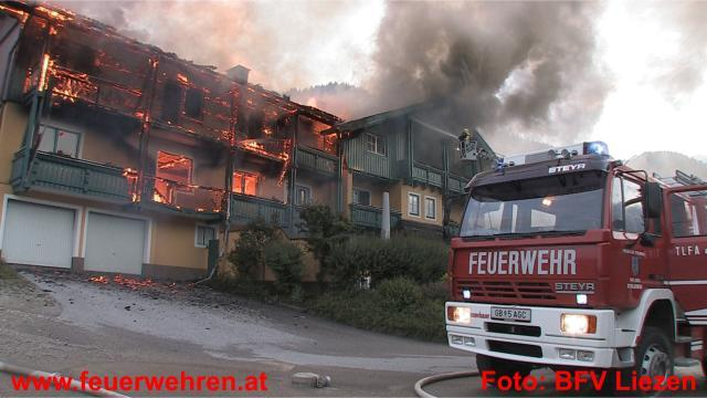 Großbrand in Schladming - Hotel in Vollbrand