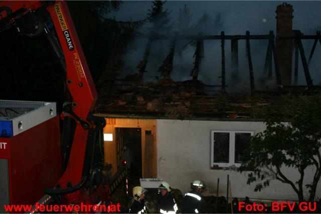 Wohnhausbrand auf der Rannach in Stattegg