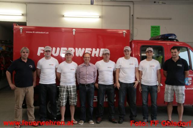 FF Ohlsdorf und FF Wiesen beim 23. Bergmarathon - HBS sponsert Leiberl u. Kappen
