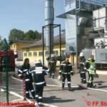 Brandeinsatz im H&H Pellets-Werk in Stainach