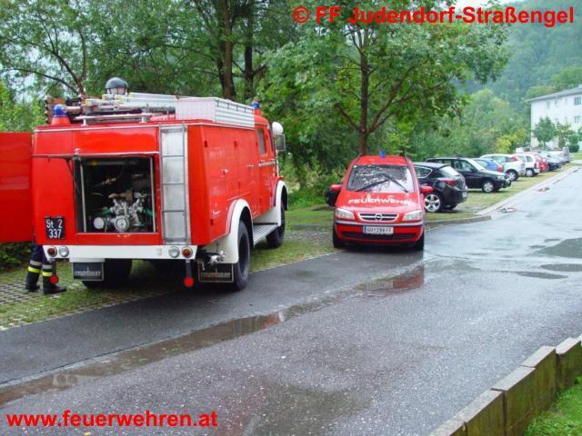 Hochwasser in Judendorf-Straßengel nach schwerem Unwetter