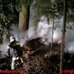 Waldbrand durch massiven Wassereinsatz verhindert
