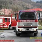 Zimmerbrand mit eingeschlossener Person in Trieben