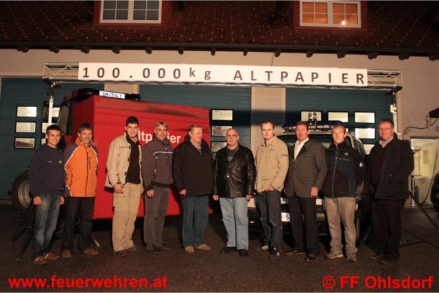 FF Ohlsdorf sammelte 100.000kg Altpapier