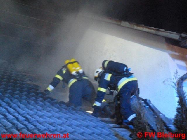 Lagerhallenbrand in Ebersdorf bei Bleiburg