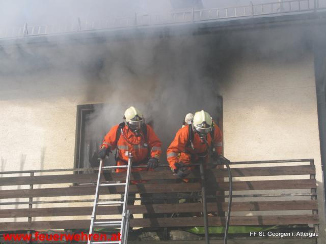 Wohnhausbrand in der Attergaustraße