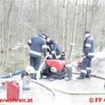 Überflutung durch Scheeschmelze - Materialschlacht in Ehrenfeld