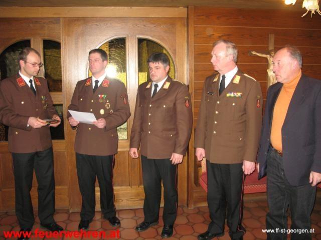 Jahresvollversammlung der FF. St. Georgen i.A. 2012