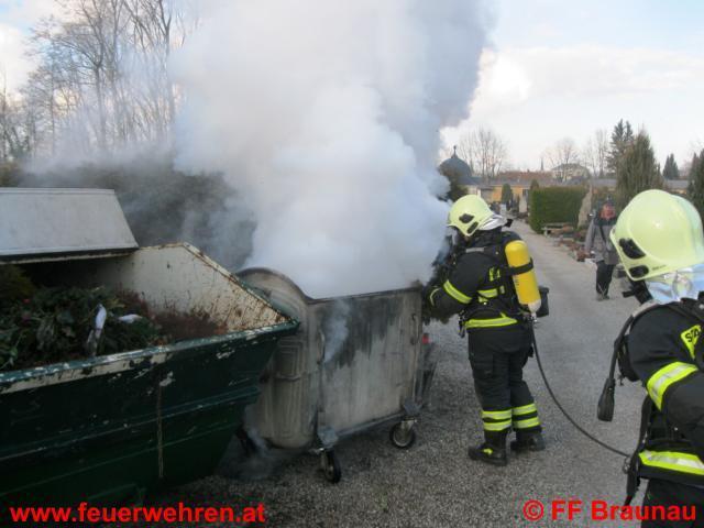 Containerbrand Friedhof Braunau