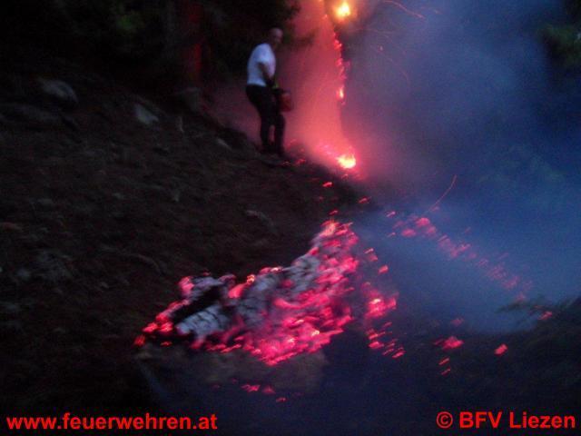 Waldbrand in Donnersbachwald