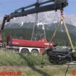 Spektakulärer Verkehrsunfall mit LKW-Zug und Harley