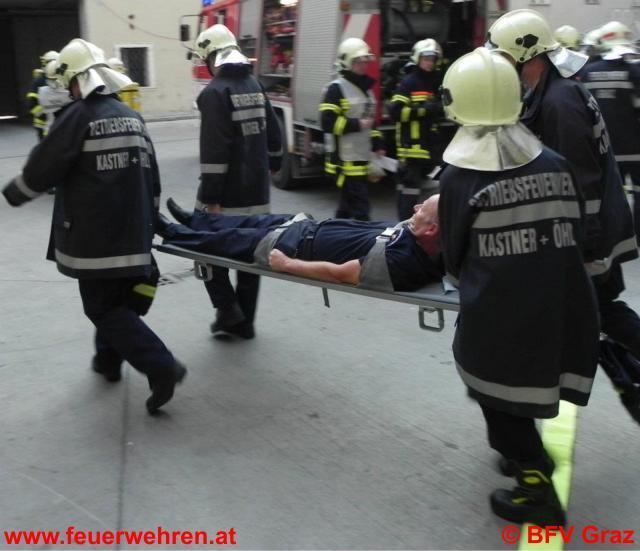Feuerwehrübung bei Kastner & Öhler