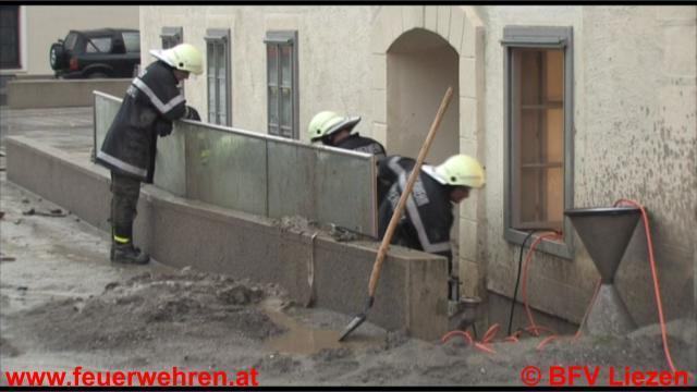 Unwetterkatastrophe:  Lagebericht seitens Feuerwehr im Paltental