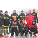 Eisrettungsübung am Moldaustausee in Tschechien mit der ÖWR Laakirchen