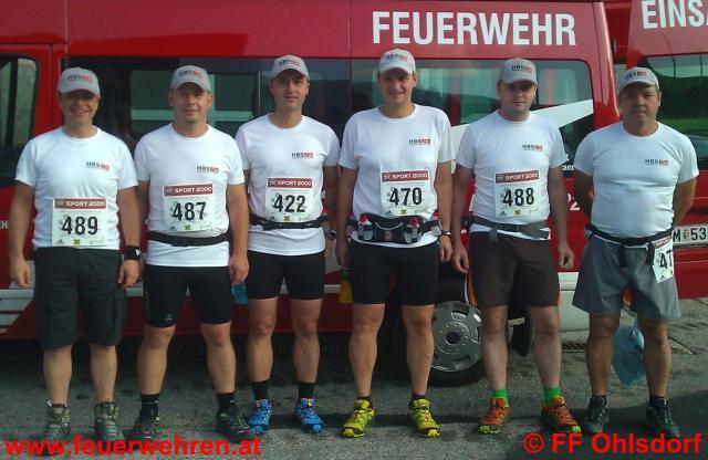 FF Ohlsdorf und FF Wiesen im HBS-Team beim Bergmarathon