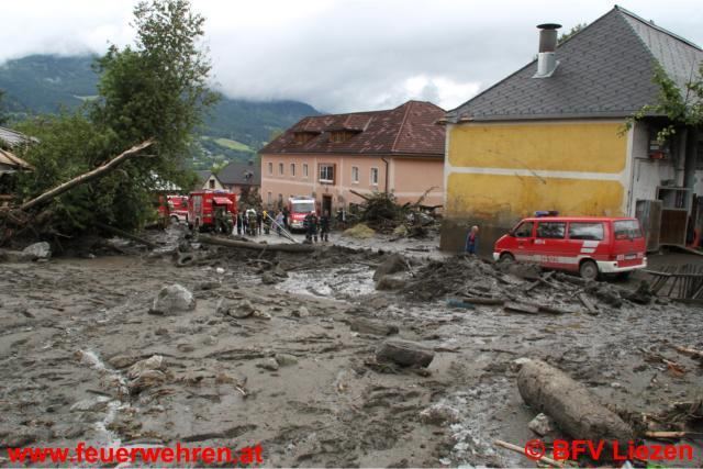Unwetterkatastrophe im Bezirk Liezen