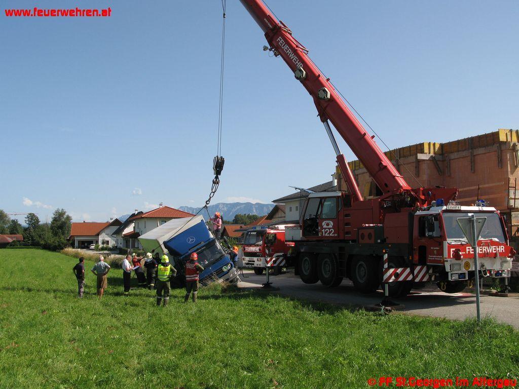 LKW- und Kranbergung in St. Georgen im Attergau