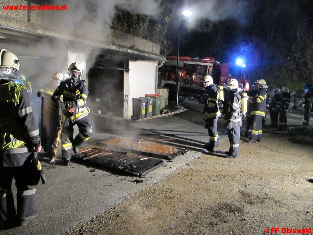 Garagenbrand in Hörmsdorf