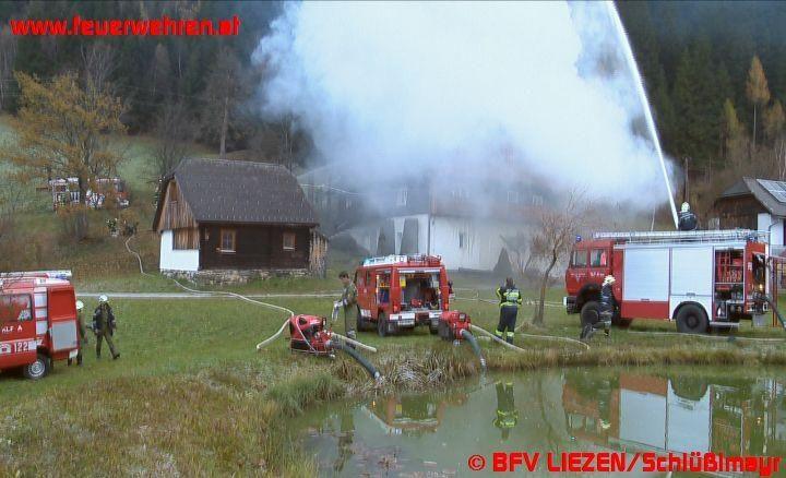 Wohngebäudebrand in Großsölk