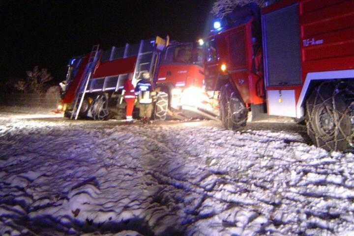 Schnee sorgt einmal mehr für zahlreiche Feuerwehreinsätze