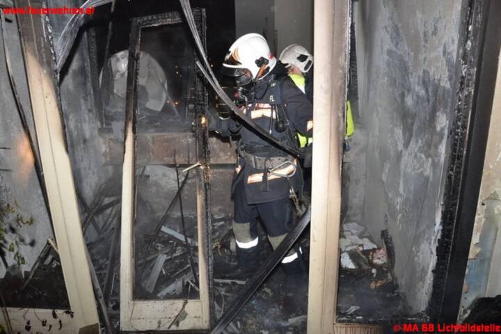 Balkonbrand im 10. Stock in der Donaustadt