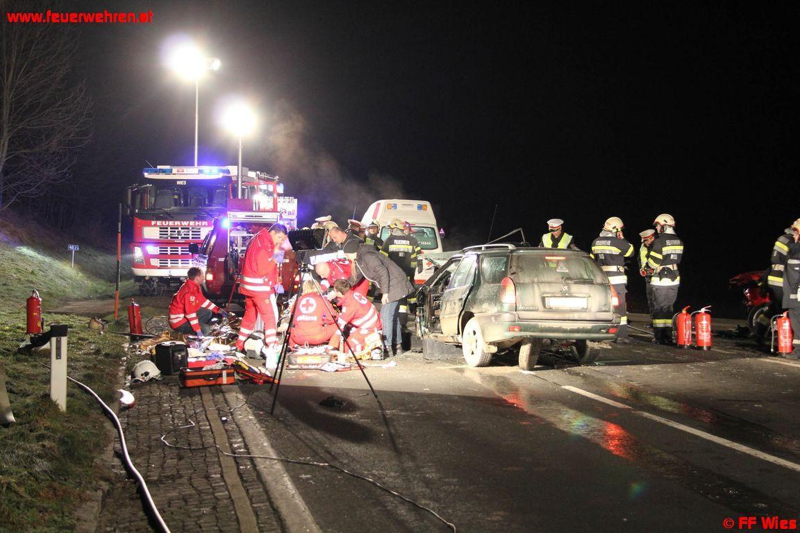 Schwerer Verkehrsunfall in Wies fordert Todesopfer