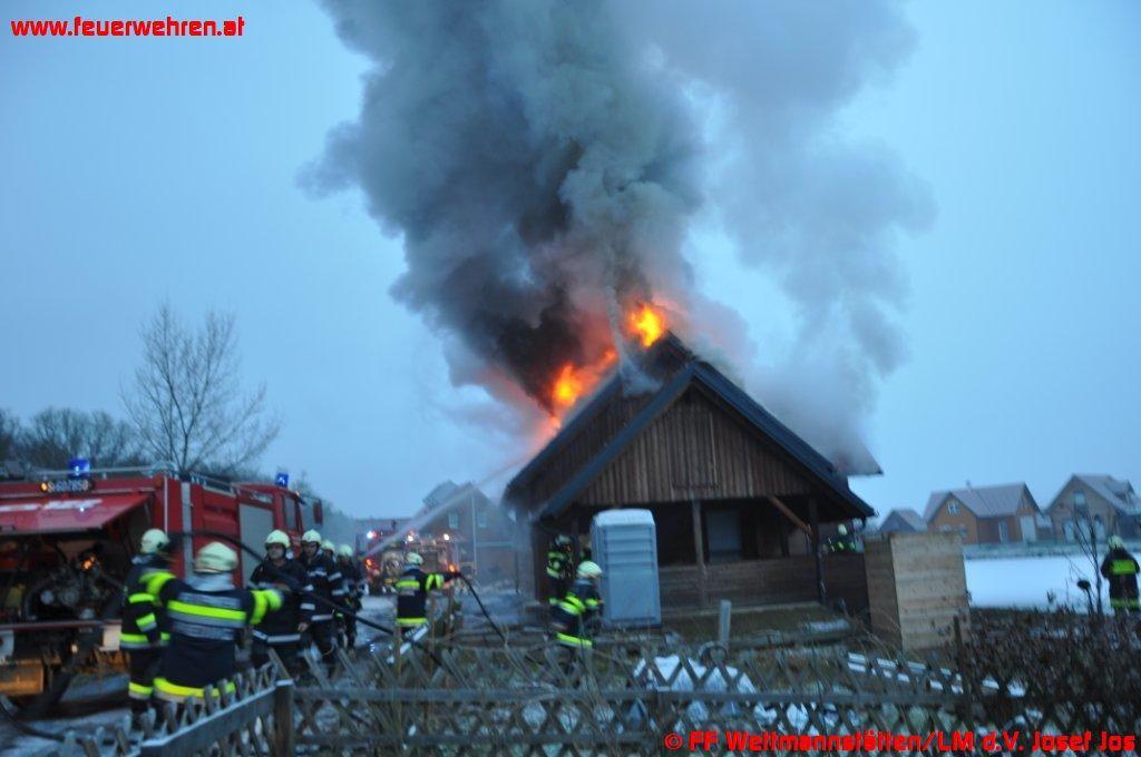 Holzblockhaus in Wettmannstätten abgebrannt