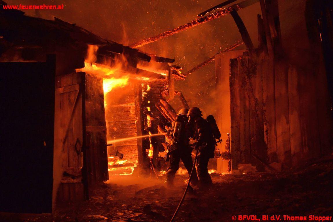 Wirtschaftsgebäudebrand in St. Anna ob Schwanberg
